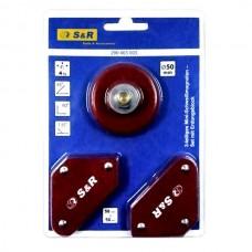 Магнітний кутник для зварювання S&R міні, 3шт, 4 кг