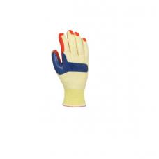 Рукавички Doloni спеціальні з латексним покриттям, жовто-червоні, розмір 10