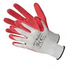 Рукавички ARTMaster RWnyl Red з латексним покриттям, біло-червоні, розмір 10