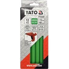 Стрижні клейові Yato, зелені, Ø7,2 × 100мм, 12шт