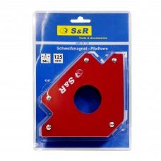 Магнітний кутник для зварювання S&R, 122×190×29мм, 34кг