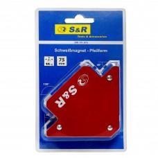 Магнітний кутник для зварювання S&R, 88×120×14мм, 11кг