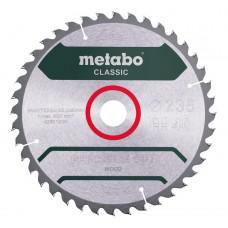 Диск пильний Metabo Classic PrecisionCut Ø235 × 30мм, 40z, WZ 15°