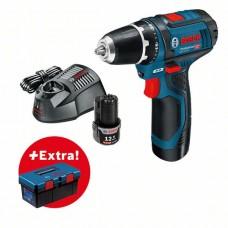 Шуруповерт Bosch GSR 12V-15 + Toolbox PRO
