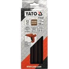 Стрижні клейові Yato, коричневі, Ø7,2 × 100мм, 12шт