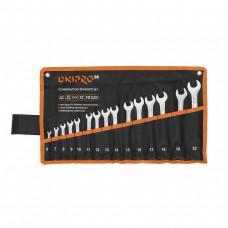 Ключі Dnipro-M рожково-накидні Cr-V, 6-22мм, 15шт