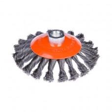 Щітка по металу Дніпро-М конусна, М14, Ø125мм, плетений дріт