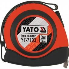 Рулетка Yato з магнітним наконечником і нейл. покриттям 3м/16мм