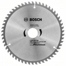 Диск пильний Bosch Eco for Aluminium Ø190 × 30мм 54T