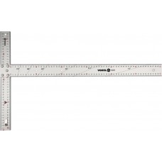 Кутник будівельний Vorel, 600 × 390мм, з розміткаю кутів 15-75°