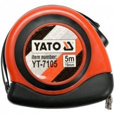 Рулетка Yato з магнітним наконечником і нейл. покриттям 5м/19мм