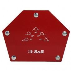 Магнітний кутник для зварювання S&R, кути 30˚, 45˚, 60˚, 75˚, 90˚