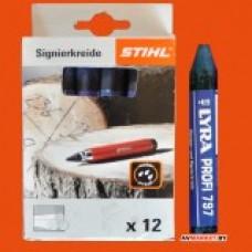 Крейда Stihl для маркування синя, 12шт