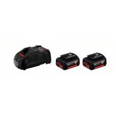 Акумуляторна батарея Bosch GBA 18V, 2 х 5,0Ah Li-Ion + GAL 1880 CV