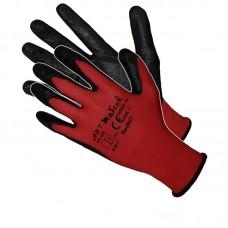Рукавички ARTMaster Red Nit з нітриловимм покриттям, червоно-чорні, розмір 10