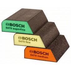 Шліфгубки Bosch B.f.Profile 69×97×26мм, M/F/SF, 3шт