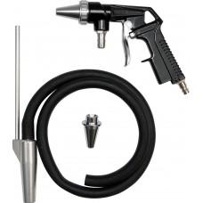 """Пневмопістолет піскоструминний Yato зі шлангом 1м, 1/4"""", Ø6,3мм"""
