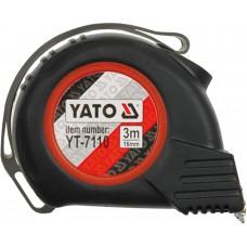 Рулетка Yato з магнітним наконечником і нейл. покриттям 5м/25мм