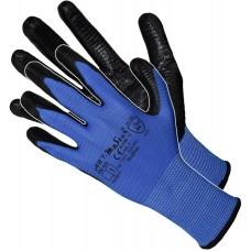 Рукавички ARTMaster RnitPas з нітриловимм покриттям, синьо-чорні, розмір 10