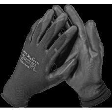 Рукавички ARTMaster RnyPu Black з поліуретановим покриттям, чорні, розмір 10