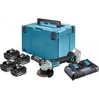 Набір акумуляторних батарей Makita LTX (BL1830x4-DC18RD)+DGA504Z